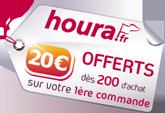 15€ offerts avec houra