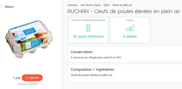 Nouvelle fiche produit Auchandirect 2016