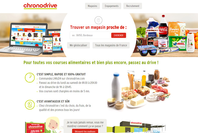 home page de chrono drive
